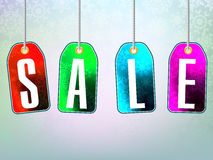 Colorful sale advertisement over background Royalty Free Stock Photo