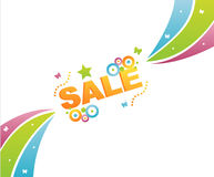 Colorful sale background Royalty Free Stock Photos