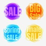 Colorful sale backgrounds Stock Photos