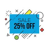 Colorful Sale Badges Design Templates. With geometric shapes vector illustration