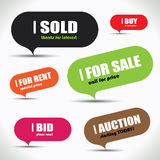 Colorful Sale Bubble Set Royalty Free Stock Photos