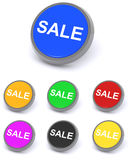 Colorful sale buttons Stock Image