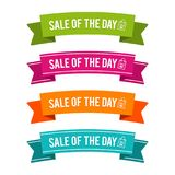 Colorful Sale of the Day ribbons. Eps10 Vector. Colorful Sale of the Day ribbons. Eps10 Vector illustration Stock Photo