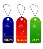 Colorful sale and discount tags Stock Images