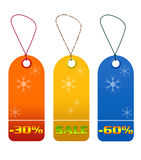 Colorful sale and discount tags Royalty Free Stock Photos