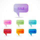 Colorful sale icons Royalty Free Stock Photo