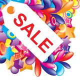 Colorful_sale_label Stock Image