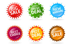 Colorful sale label collection 4 Stock Photo