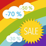 Colorful sale label Royalty Free Stock Photography
