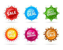 Colorful sale label star collection 5 Royalty Free Stock Photo
