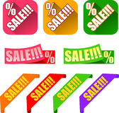 Colorful Sale label and sticker Stock Photography