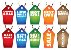 Colorful Sale label tags Royalty Free Stock Photo