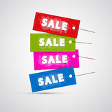 Colorful Sale Labels, Tags Royalty Free Stock Photography