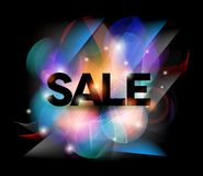 Colorful Sale poster Stock Photo