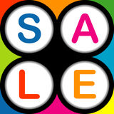 Colorful SALE poster Royalty Free Stock Image