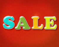 Colorful Sale Sign Royalty Free Stock Photo