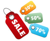 Colorful sale tag Stock Images