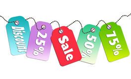 Colorful sale tag Stock Photography