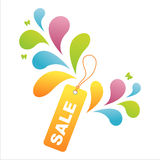 Colorful sale tag background Royalty Free Stock Photos