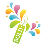 Colorful sale tag background Royalty Free Stock Images