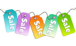 Colorful sale tags Stock Photo