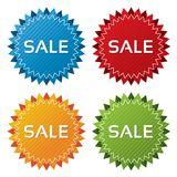 Colorful sale tags collection. Icons set (vector). Stock Images