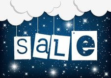 Colorful sale tags hanging Stock Photo