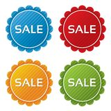 Colorful sale tags with texture collection Royalty Free Stock Photos
