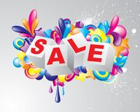 Colorful_Sale_Title Royalty Free Stock Photo