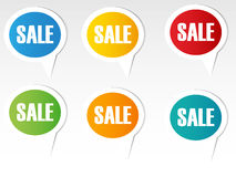 Colorful sales speech bubbles. Set Royalty Free Stock Photography