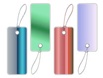 Colorful sales tags with clipping path Royalty Free Stock Image