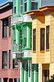 Colorful San Francisco Houses Royalty Free Stock Image