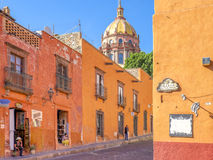 Colorful San Miguel Street, Mexico Royalty Free Stock Photos