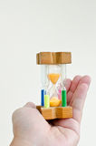 Colorful sand hourglass timer Royalty Free Stock Photo