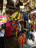 Colorful sandale shop Royalty Free Stock Image