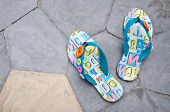 Colorful sandals. Stock Images