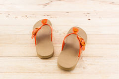 Colorful of Sandals shoes. Stock Photo