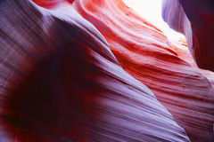 Colorful sandstone in Antelope Slot Canyon in Arizona Royalty Free Stock Images