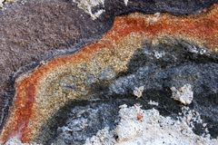 Colorful sandstone Royalty Free Stock Photos