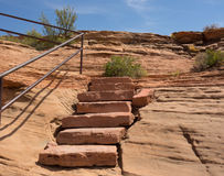 Colorful sandstone cliffs in arizona Stock Photography