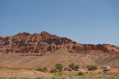 Colorful sandstone cliffs in arizona Royalty Free Stock Photos