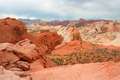 Colorful sandstone formation in Nevada Royalty Free Stock Photography