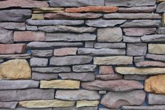 Colorful sandstone walling texture for outdoor and background design. Sandstone walling texture for outdoor and background design stock image
