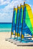 Yacht on the sandy beach Royalty Free Stock Photography