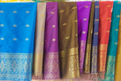 Colorful sarong pattern background in Thailand Stock Photo