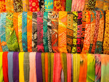Colorful Sarongs in Bali Stock Images
