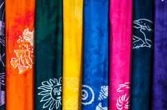 Colorful sarongs (balinese cloth) Stock Photo