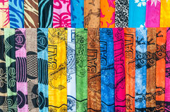 Colorful sarongs (balinese cloth) Stock Images