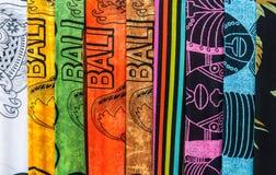 Colorful sarongs (balinese cloth) Stock Photos