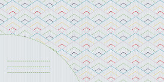Colorful sashiko motif with copy space for text. Stock Photography